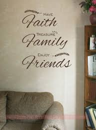 on lettering wall art quotes with have faith treasure family wall art decal vinyl lettering
