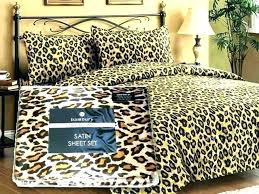 bedding sets animal print queen cheetah sheets size bed set leopard duvet cover covers nz