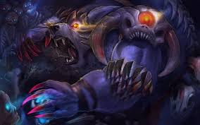 dota 2 ursa warrior loading screen claws skeletons art wallpaper