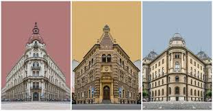 Zsolt Hlinka's Photo Collages Portray the Buildings of Budapest in Perfect  Symmetry,  Zsolt Hlinka