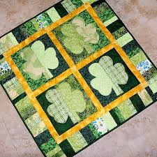 Green Quilts, Projects and Patterns: Your Lucky Day! & Shamrock Green Quilt Pattern Adamdwight.com