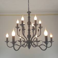 luxury rustic wrought iron chandelier e14 candle black vintage within wrought iron candle chandelier