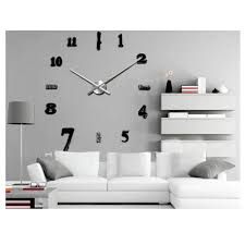 office wall clocks large. 2017 New Large Wall Clock Living Room Office Decoration Home Decor Modern DIY 3D Sticker Brief Clock-in Clocks From \u0026 Garden On