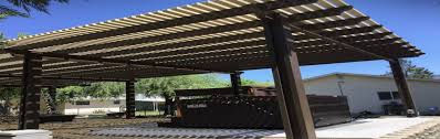 freestanding pergola design and installs insulated patio cover