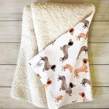 Dachshund Throw Blanket