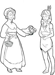 Pilgrim Boy And Girl Coloring Pages Costume Colo Ayanablanch Win