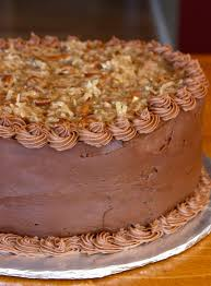 Decorated German Chocolate Cake Chocolate Cake With Chocolate Mousse Filling