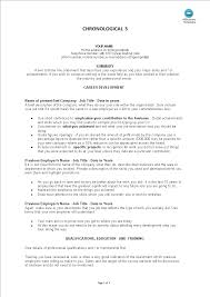 Chronological Resume Example Templates At Allbusinesstemplates Com