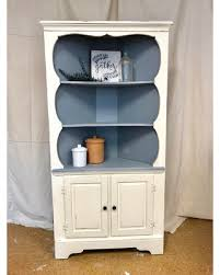 Kitchen china cabinets Modern Kitchen Shabby Chic Farmhouse Kitchen Corner Cabinet Hutch China Cabinet White Gray Blue Distressed Better Homes And Gardens Find The Best Deals On Shabby Chic Farmhouse Kitchen Corner Cabinet