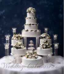 wedding cakes with fountains. Tiered Wedding Cakes With Fountains In The Set For