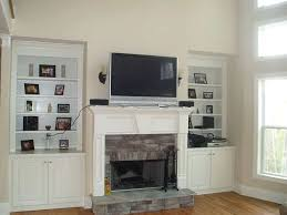 smlf ct mounted fireplace wires side hang tv above stone installing