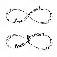 Love Symbol Nekonečna Tetování Znakem Nekonečna Rukou Psaný