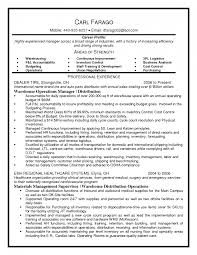 Distribution Manager Sample Resume 19 Warehouse Resumes Free