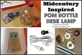 supply list for pom bottle table lamp