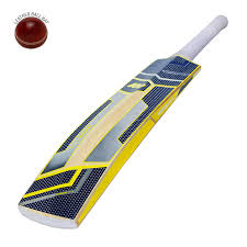 Ew 500 Junior English Willow Cricket Bat For Leather Ball Yellow