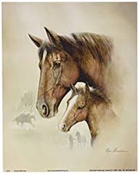 Small Picture Amazoncom 4 Horse Art Prints Mare Pictures Foal Posters Home