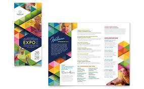 Folding Poster Template Health Fair Tri Fold Brochure Template Design