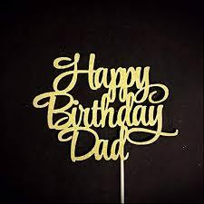 Amazoncom Happy Birthday Dad Cake Topper Fathers Birthday Cake
