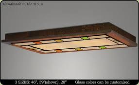 craftsman style flush ceiling light