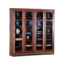 real wood bookcase walnut bookcase with glass doors solid wood king size bookcase headboard bookchase solid real wood bookcase