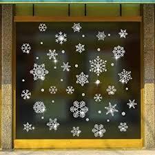 Wandsticker4u Selbstklebende Fensterbilderschneeflocken
