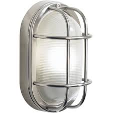 dar lighting salcombe large oval stainless steel outdoor wall light