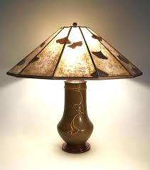 arts and crafts light fixtures arts crafts lighting pottery ginkgo table lamp panel mica shade vintage arts and crafts