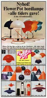 verner panton unspecified designer poul henningsen for louis poulsen flowerpot table lamp
