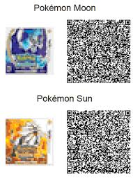 Team qr codes for pokemon sun