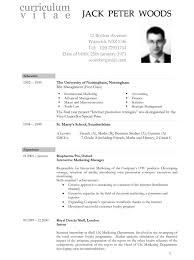 Word Document Resume Template Jh6b Cv Black Oxford Free Templates