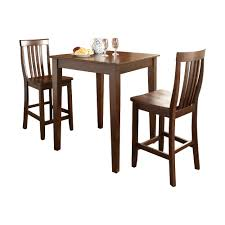 Kitchen Pub Table And Chairs Charlton Home Bagwell 3 Piece Pub Table Set With Tapered Leg Table