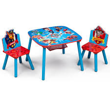 Delta Children Nick Jr. PAW Patrol 3-Piece Multi-Color Table and Chair