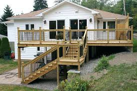 house addition plans. Raised Ranch Addition Ideas A Deck Built Onto Home In Suburban House Plans