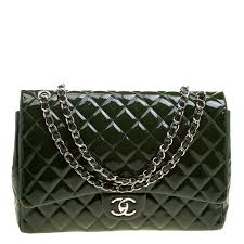 chanel green quilted patent leather maxi classic double flap bag nextprev prevnext