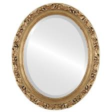 oval mirror frame. Rome Beveled Oval Mirror Frame In Gold Leaf A