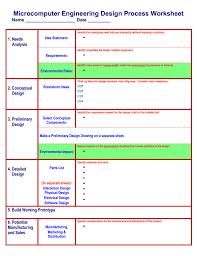 Preliminary Design Process The Engineering Design Process Worksheet Arduino Info