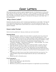 Letter Of Introduction For Resume Resume For Your Job Application