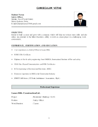 Safety Manager Resume Safety Manager Cover Letter Resume Construction Executive Samples