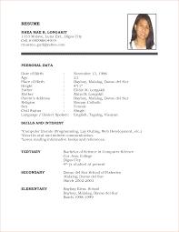 Resume Format Examples Resume Format Examples For Job Free Sample