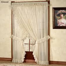 Priscilla Curtains Living Room Jessica Ninon Ruffled Wide Priscilla Curtains