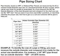 Pipe Npt Size Chart Details About 4pcs 5 8 Hose Barb X 1 2 Male Mpt Brass Pipe Fitting Npt Thread Water Air Fuel