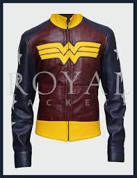 womens wonder women leather jacket