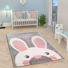 childrens animal rug grey white pink baby nursery carpets kids bedroom floor mat