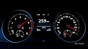 VW Golf VII GTI Performance manual - acceleration 0-250 km/h, top ...
