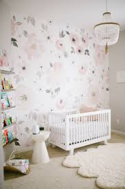 Floral Wallpaper in a Baby Girl Nursery - yes, we LOVE this Jolie Wallpaper  from