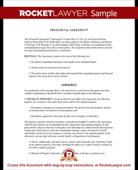 prenup samples prenuptial agreement template premarital agreement form with sample