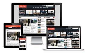 Website Template Newspaper Newspaper Software Online Newspaper Website Template
