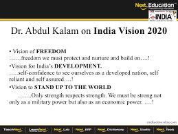 vision reforming the governance education landscape in   2 dr abdul kalam on vision 2020