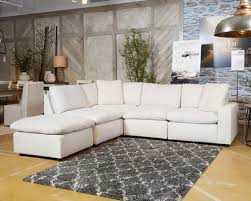 ashley furniture savesto 5 piece sectional with laf chair in ivory 3110264 46 77 46 08