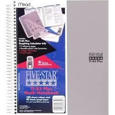 Five Star Graph Paper Notebook Mead Graphing Notebook 1 College Quad